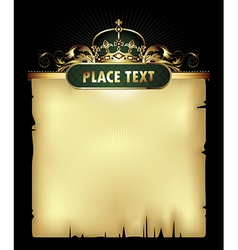 paper background with crown vector image vector image