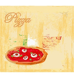 Pizza grunge poster vector image vector image