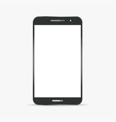 Realistic black and grey smart phone vector