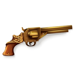 Realistic revolver vector