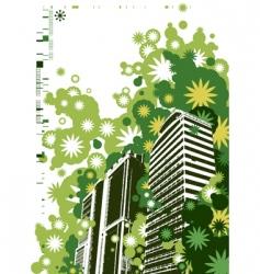 retro style city vector image vector image