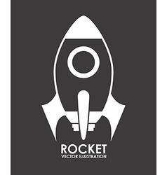 Rocket design vector