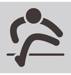 Running hurdles icon vector image vector image