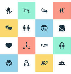 Set of simple mates icons vector