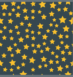 Shiny star seamless pattern pointed pentagonal vector