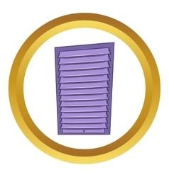 Shutter door or roller door icon vector