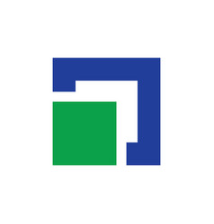 square business logo vector image