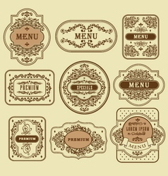 Vintage floral decorative label template vector image vector image