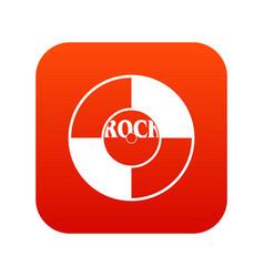vinyl icon digital red vector image vector image