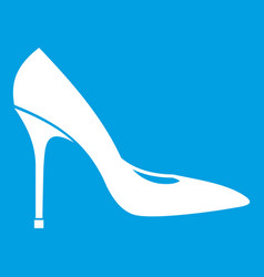 Women shoe with high heels icon white vector