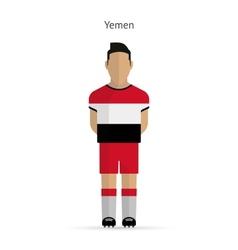Yemen football player soccer uniform vector