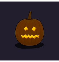 Halloween terrible pumpkin on dark background vector
