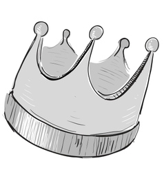 Simple crown icon vector image