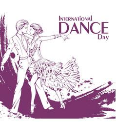 Dance day ballroom dancing latina vector