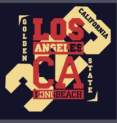 California typography print grizzly bear t-shirt vector