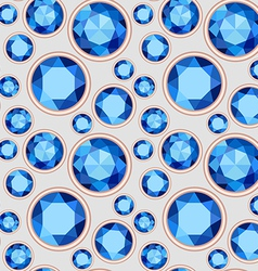 Blue saturated color sapphire seamless pattern vector