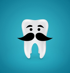 Mustachioed wisdom tooth vector image
