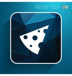 Piece of cheese template icon logo vector