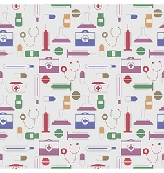 Seamless pattern with colorful medical tools vector