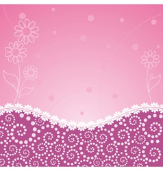 Frame decorated floral vector