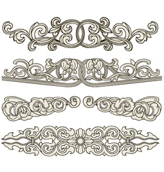 Scroll ornament vector
