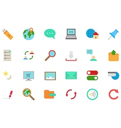 Internet icons set vector