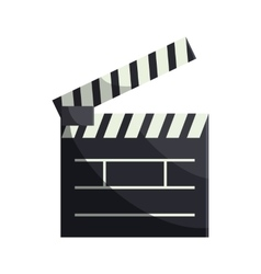 Open clapboard icon in cartoon style vector