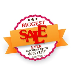 Biggest Sale design with percent discount vector image vector image