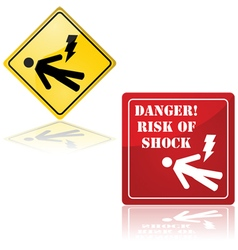 Danger of electric shock vector image vector image