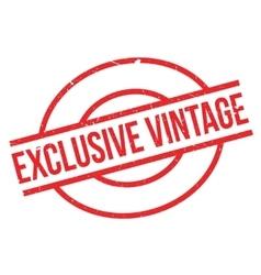 Exclusive Vintage rubber stamp vector image