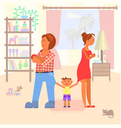 family scandal in room vector image