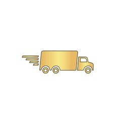 Fast Delivery computer symbol vector image