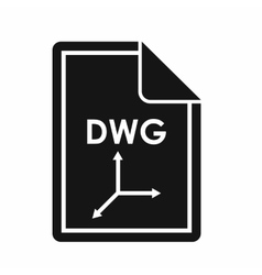 File dwg icon simple style vector