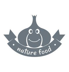 Garlic logo simple gray style vector