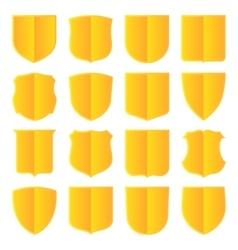 Golden shields set vector image vector image