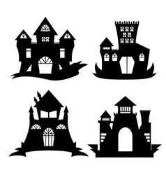 Halloween castle silhouette vector
