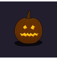 Halloween Terrible Pumpkin on Dark Background vector image vector image