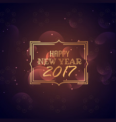 Happy new year 2017 poster design with bokeh vector