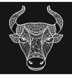 Head buffalo style zentangle vector