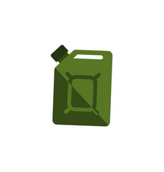 Isolated jerrycan flat icon fuel canister vector