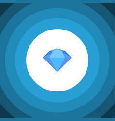Isolated jewel flat icon treasure element vector