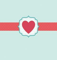 Love in heart ornate frame reversed vector