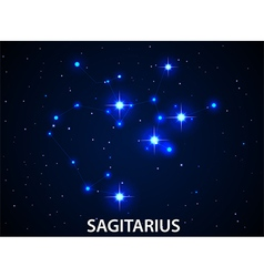 Set of symbol zodiac sagitarius vector