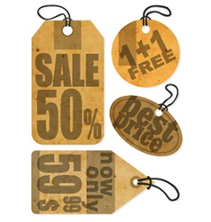 Shopping retail signs vector image vector image
