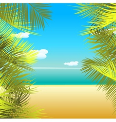 summmer background vector image vector image