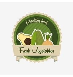 Vegetarian food menu vector