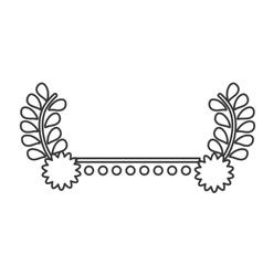 Wreath leaves flower design vector