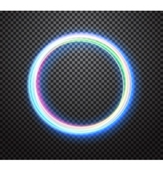 Round neon light trail special effect vector