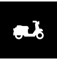Retro scooter icon vector image