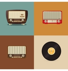 Retro radio image vector